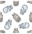 seamless pattern with hand drawn pastel pepper vector image vector image