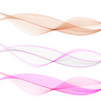 set abstract color wave design element vector image vector image