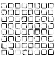 Set of 64 unique ink sketched shapes vector image vector image