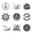 Set of vintage space nautical aeronautics flight vector image