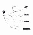 set simple travel icons vector image vector image