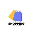 shopping logo design template shopping bag icon vector image vector image