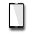 Smart Phone With Blank Screen Isolated vector image vector image