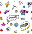 social media slang and signs icons and emoji vector image