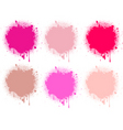 splash pink collection vector image vector image