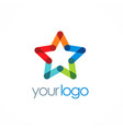star colorful company logo vector image vector image