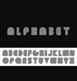striped english alphabet vector image vector image