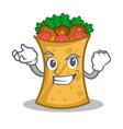 successful kebab wrap character cartoon vector image vector image