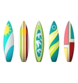 Surf boards designs surfboard coloring set vector image