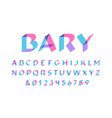 transparent font alphabet with overlay effect vector image