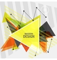 triangle abstract design vector image