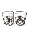 Two glasses with liquid vector image