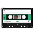 Vintage cassette tape vector image vector image