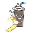 with menu ice chocolate mascot cartoon vector image