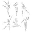 woman dancer ballerina elegant silhouette vector image