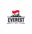 modern professional sign logo everest art vector image