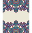 Ornate colored Indian paisley mandalas frame vector image