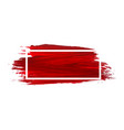 acrylic brush texture background red acrylic vector image vector image