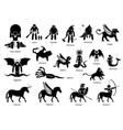 ancient greek mythology monsters and creatures vector image