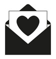 black and white open love message vector image