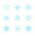Blue snowflakes doodle design vector image vector image