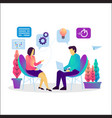 business consulting flat vector image vector image