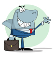 Business Shark Waving A Greeting vector image vector image
