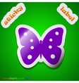 Butterfly icon sign Symbol chic colored sticky vector image