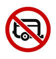 Caravans Not Allowed vector image vector image