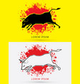charging bull fighting bull vector image vector image