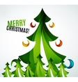 Christmas tree geometric design vector image vector image