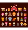 circus icons set vector image