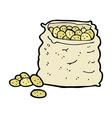 comic cartoon sack of potatoes vector image vector image