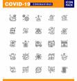 covid19-19 protection coronavirus pendamic 25 line vector image vector image