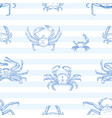 crayfish seamless pattern sea animals vector image