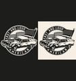 custom car round vintage logotype vector image vector image