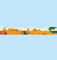 desert panoramic view vector image vector image