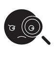 detective emoji black concept icon vector image vector image