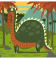 Dinosaur Eating Leaves vector image