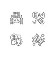 dna manipulation linear icons set vector image vector image