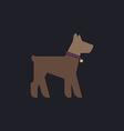 Dog computer symbol vector image vector image