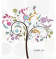 doodles background with colorful tree vector image vector image