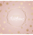 elegant christmas background with gold snowflakes vector image vector image
