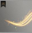 elegant gold color transparent light effect vector image vector image