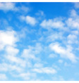 Fluffy clouds vector