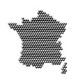 france map from 3d black cubes isometric abstract vector image vector image
