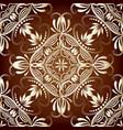 greek vintage seamless pattern ornamental floral vector image vector image
