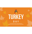 greeting card turkey day collection vector image vector image
