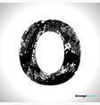grunge letter o black font sketch style symbol vector image vector image