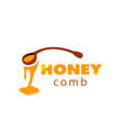honeycomb spoon sweet honey drop background vector image